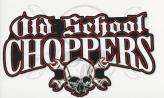 Old School Choppers logo sticker